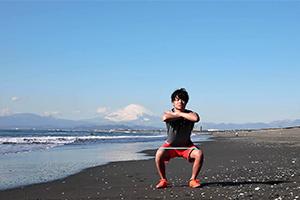 【トレーニング】Beach BootCamp 2018 スクワット(0:13)